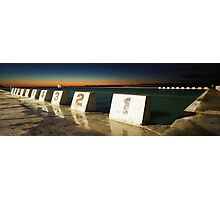 Merewether Baths - First Light Photographic Print