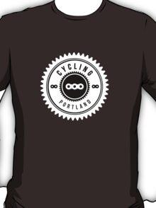 Cycling Portland White & Black T-Shirt