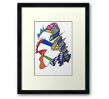Stairs Where The Rubix Cube Threw Up Framed Print