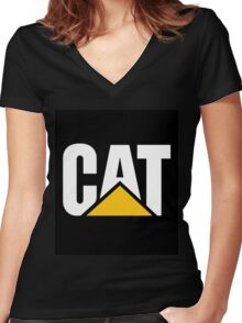 Caterpillar DIESEL Women's Fitted V-Neck T-Shirt
