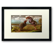 Gastornis Fight Framed Print
