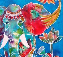 Colourful Indian Elephant by Almeta