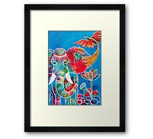 Colourful Indian Elephant Framed Print