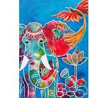 Colourful Indian Elephant Photographic Print