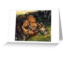 Smilodon Meal Greeting Card