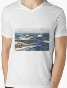 Barracudasaurus Mens V-Neck T-Shirt