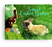 Sweet Chocolate Easter Wishes Canvas Print