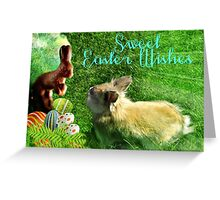 Sweet Chocolate Easter Wishes Greeting Card