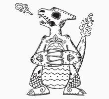Charmeleon de los Muertos | Pokemon & Day of The Dead Mashup T-Shirt