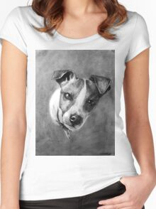 Dog Portrait Commission 1 Women's Fitted Scoop T-Shirt