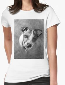 Dog Portrait Commission 1 Womens Fitted T-Shirt