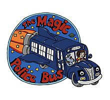 The Magic Police Bus Photographic Print