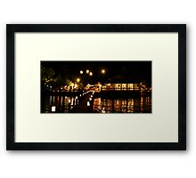 New Years by the sea Framed Print