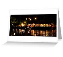 New Years by the sea Greeting Card