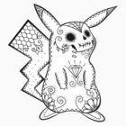 Pikachu de los Muertos | Pokemon & Day of The Dead Mashup by abowersock