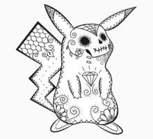 Pikachu de los Muertos | Pokemon & Day of The Dead Mashup T-Shirt