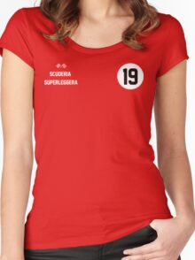 Racers Jersey - White/ White Women's Fitted Scoop T-Shirt