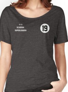 Racers Jersey - White/ White Women's Relaxed Fit T-Shirt