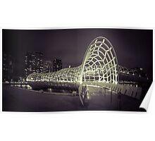 Webb Bridge, Melbourne Poster