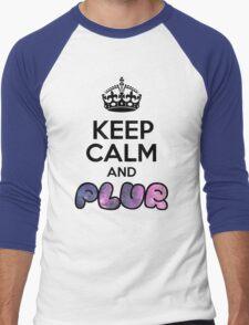 Keep Calm And PLUR ☆ Men's Baseball ¾ T-Shirt