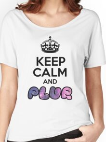 Keep Calm And PLUR ☆ Women's Relaxed Fit T-Shirt