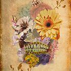Flower Skull V2 by BluAlien