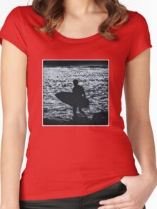 Blue Surfer Women's Fitted Scoop T-Shirt