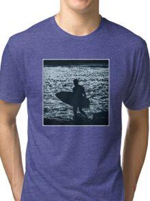 Blue Surfer Tri-blend T-Shirt