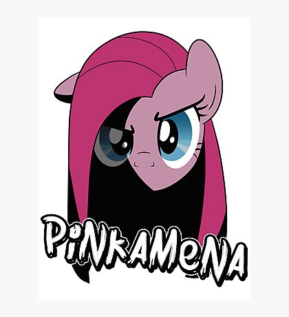 Pinkamena: The Darker Half (With Text) Photographic Print