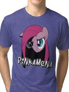 Pinkamena: The Darker Half (With Text) Tri-blend T-Shirt