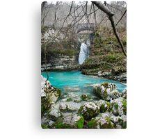 Waterfall on Kozjak River Canvas Print