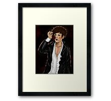 A God made Man - Bacchus Zelo Framed Print