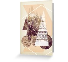 Peach Forest Greeting Card