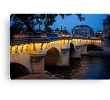 Pont Neuf Bridge - Paris, France Canvas Print