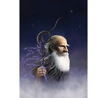 Tolstoy Sleepwalking in the Clouds Photographic Print