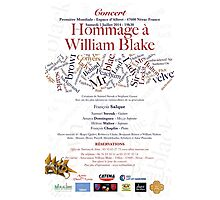HOMMAGE A WILLIAM BLAKE -   CONCERT NERAC FRANCE 2014 Photographic Print