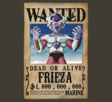 Wanted Poster Frieza by BadrHoussni