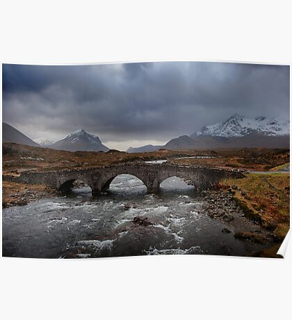Old Sligachan Bridge, Isle of Skye, Scotland Poster