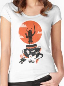 Samurai Sushi Women's Fitted Scoop T-Shirt
