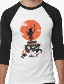 Samurai Sushi Men's Baseball ¾ T-Shirt