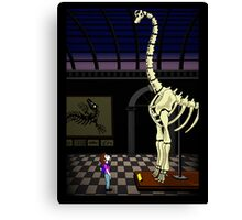 Dinosaur timespace Canvas Print