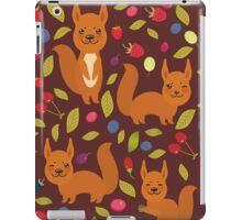 pattern with red squirrel iPad Case/Skin