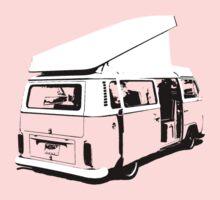 VW Camper Early Bay Open Roof One Piece - Long Sleeve