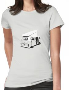 VW Camper Early Bay Open Roof Womens Fitted T-Shirt