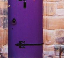 Purple Door Sticker