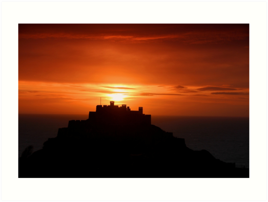 Gorey castle at sunrise by Gary Power
