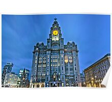 Liver Building at night Poster