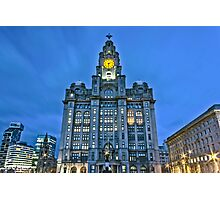 Liver Building at night Photographic Print