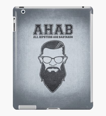 ALL HIPSTERS ARE BASTARDS - Funny (A.C.A.B) Parody  iPad Case/Skin