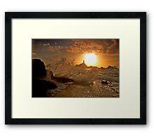 Corbiere Sunset  Framed Print